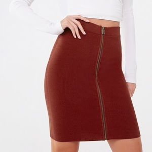 Forever21 Zip Front Mini Skirt